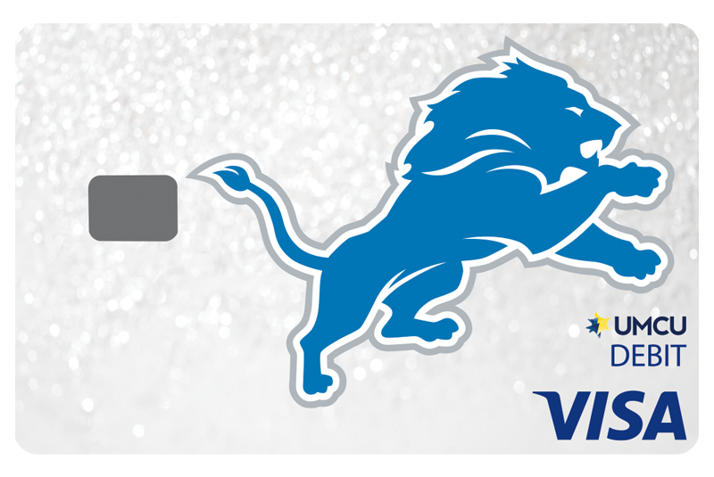 Check Card Lions White